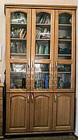"""Книжный шкаф """"Трио 3"""" деревянный стеллаж для книг в гостиную сервант витрина"""