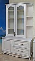 """Книжный шкаф """"Дуэт 11"""" деревянный стеллаж для книг в гостиную сервант витрина"""