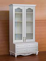 """Книжный шкаф """"Дуэт 12"""" деревянный стеллаж для книг в гостиную сервант витрина"""