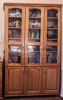 """Книжный шкаф """"Трио 4"""" деревянный стеллаж для книг в гостиную сервант витрина"""