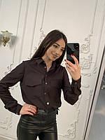Рубашка кассическая 42-48 (шоколад)