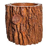 Вазон Rovere из бетона с фактурой дерева для ландшафтного дизайна