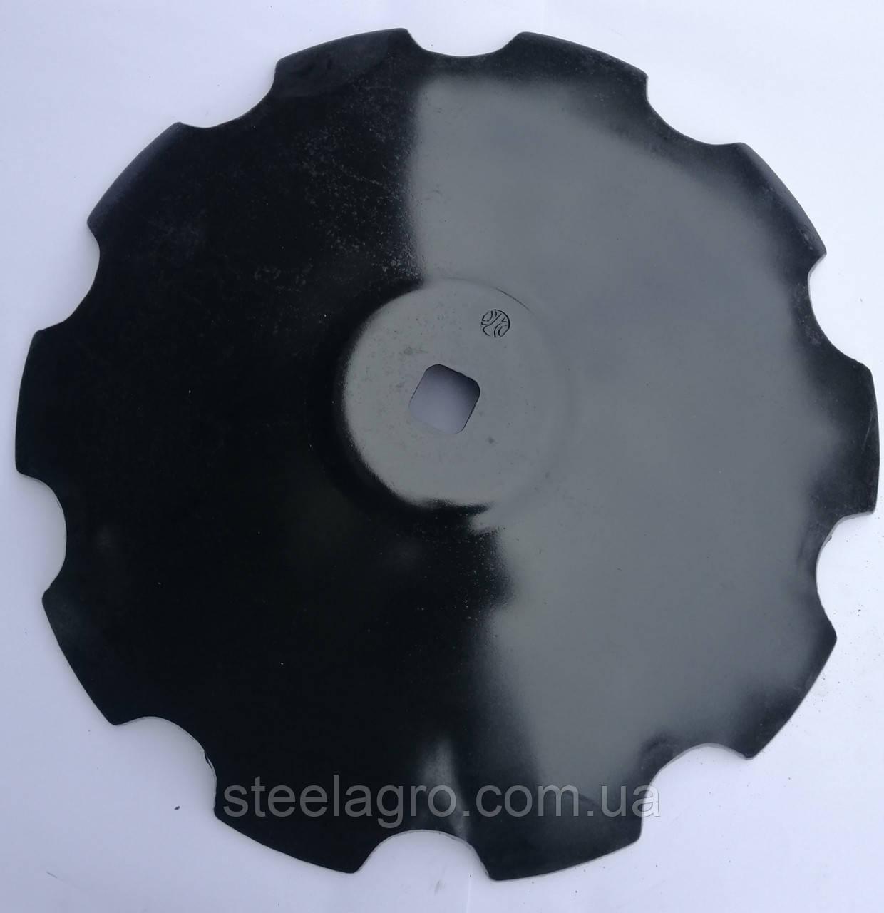 """Диск БГР """"Солоха"""" ромашка/гладкий D=710 мм,кв42, h=8мм бор"""