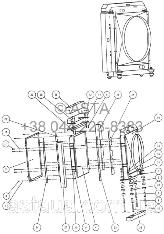Радиатор W14F11
