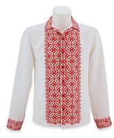 Белая нарядная Мужская вышиванка свадебная.