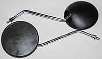 Зеркала Дельта чёрные , ножка хром M=8mm