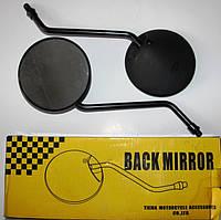 Зеркала Альфа чёрные , ножка чёрная M=8mm