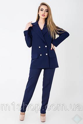 0105d4e164a0 Женский деловой брючный костюм с двубортным пиджаком (Анна leo), фото 2