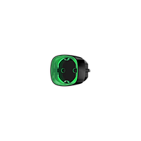 Радіокерована розумна розетка з лічильником енергоспоживання (Ajax Socket). Колір чорний/білий