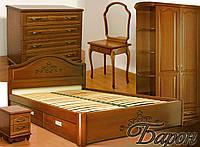 """Спальный гарнитур """"Барон"""" мебель для спальни. Белая, красивая, деревянная спальня"""