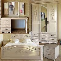 """Спальный гарнитур """"Марго"""" мебель для спальни. Белая, красивая, деревянная спальня"""