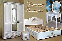 """Спальный гарнитур """"Виктория"""" мебель для спальни. Белая, красивая, деревянная спальня"""