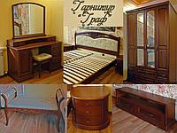 """Спальный гарнитур """"Граф"""" мебель для спальни. Белая, красивая, деревянная спальня"""