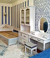 """Спальный гарнитур """"Виктория 2"""" мебель для спальни. Белая, красивая, деревянная спальня"""