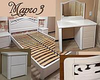 """Спальний гарнітур """"Марго 3"""" меблі для спальні. Біла, гарна, дерев'яна спальня, фото 1"""