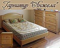 """Спальный гарнитур """"Анжела"""" мебель для спальни. Белая, красивая, деревянная спальня"""