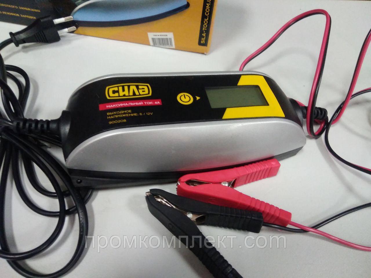 Устройство зарядное 4А 6/12В до 120Ah цифровое импульсное СИЛА