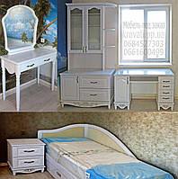 """Детская спальня из дерева  """"Лорд 2"""" мебель для детей девочки, мальчика подростка белая деревянная"""