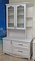 """Сервант """"Лорд"""" стенка в гостиную мебельная горка шкаф - витрина белая мебель в зал, фото 1"""