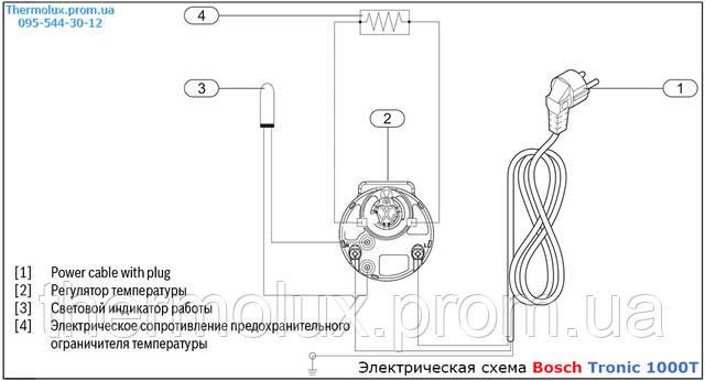Электрическая схема водонагревателя Bosch Tronic 1000T