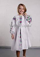 Заготовка для вишивки дитячої сукні БС-125сд домоткане полотно