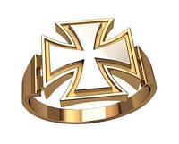"""Золотая печатка """"Железный Крест"""""""