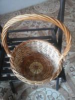 Набор корзин из лозы 4 шт подарочные круглые