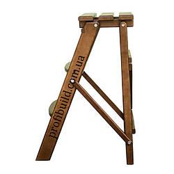 Деревянная стремянка - стул BROWN 3 ступени