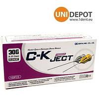 Голки СК Джет иглы стоматологические карпульные Скджет иголки CK JET для анестезии 0,3*12mm 30G