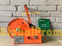 Лебедка ручная c тормозным фиксатором BHW 1150 кг, намотка троса любой длины, фото 1