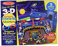 """Набор с многократными объемными 3D наклейками """"Приключения"""", Melissa&Doug, 9375"""