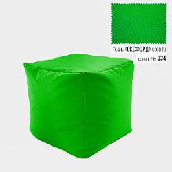 Кресло Куб мягкий пуфик бескаркасный 45х45, салатовый