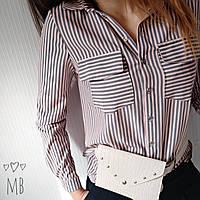 Рубашка кассическая 42-48 (полоска)