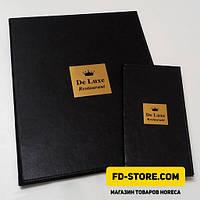 Папка меню с табличкой на заказ