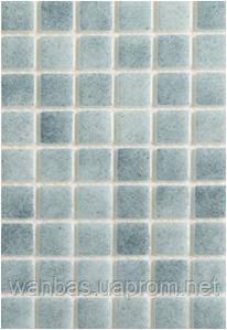 Противоскользящая серая стеклянная мозаика с закругленными краями   Dark Gray PW25206 Anti 25х25 мм.