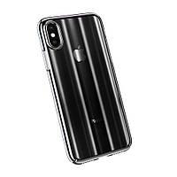 Чехол Baseus Aurora Series Transparent Black для iPhone X/XS, фото 1