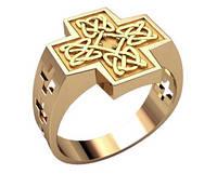 """Золотая печатка """"Кельтский крест"""""""