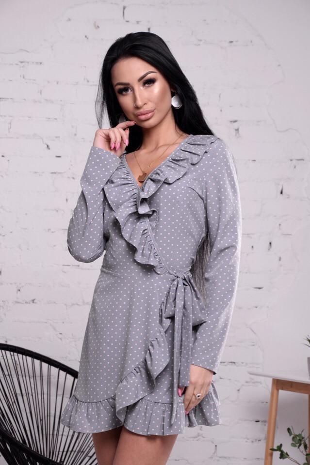 Лёгкое платье на запах, ткань: супер софт. Размер: С (42-44), М(44-46). Разные цвета (6268)