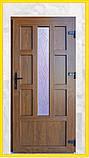 Двері вхідні металопластикові з вікном, фото 2