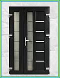 Двері вхідні металопластикові з вікном, фото 3