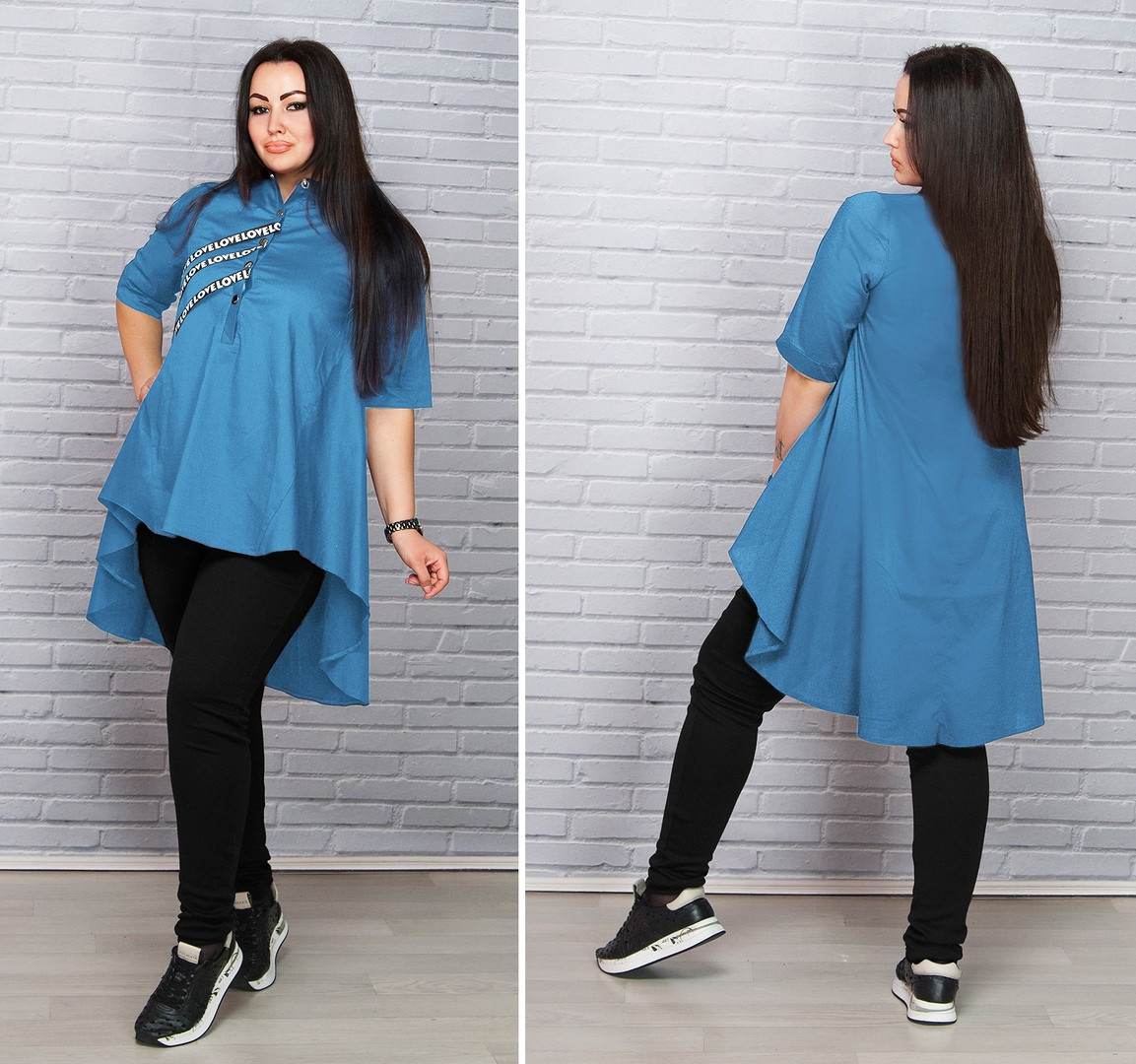 9d61acae3db Асимметричная женская рубашка-туника