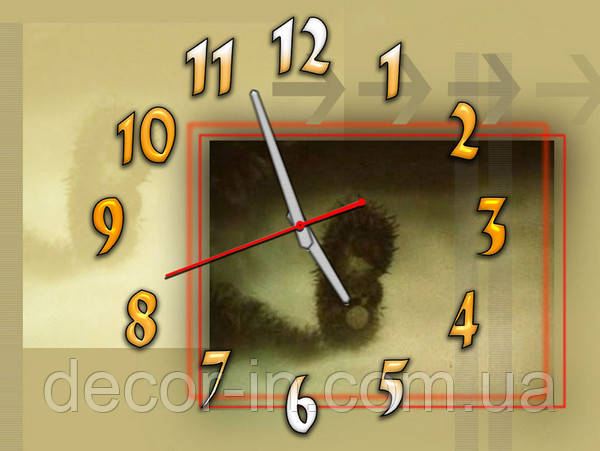 Часы настенные B 64 ёжик в тумане, 30х40 для детской, спальни.