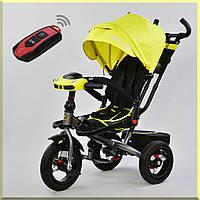 Детский трехколесный велосипед с музыкой и пультом управления.  6088 F