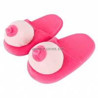 Розовые тапочки в виде сисек