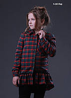 "Рубашка в клетку для девочки ""Рюша"" 4.10 Лар Код:917694845"