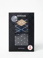 Носки мужские Conte Хлопковые носки DIWARI в фирменной коробке (2 пары)