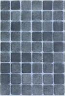 Антискользящая серая стеклянная мозаика с закругленными краями   Urban Gray PW 25216 Anti 25х25 мм.