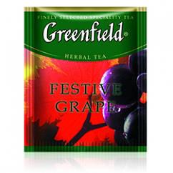 Чай травяной с яблоком и виноградом Greenfield Festive Grape 100 пак. м/у HoReCa