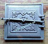 Дверцята чавунна барбекю, грубу, печі, мангал (330х360 мм), фото 4