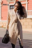 Пальто женское весеннее 7036 ш Код:925701216